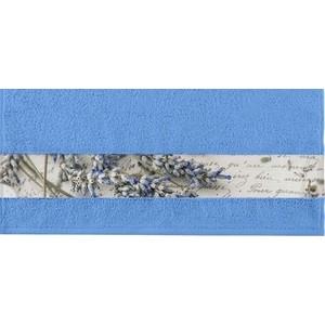 Полотенце Aquarelle Фотобордюр письмо, спокойный синий 70х140 (712591)