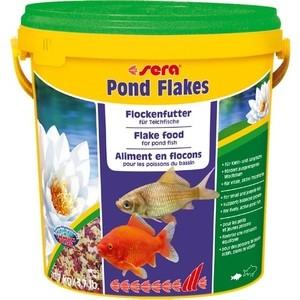 Корм SERA POND FLAKES Flake Food for Pond Fish хлопья для прудовых рыб 10л (1,7кг) корм sera pond mix royal mix food for pond fish смесь для прудовых рыб 21л 3 5кг