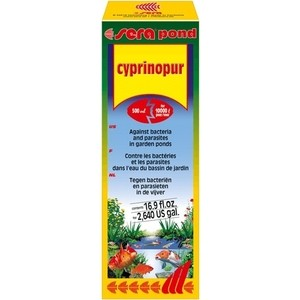 Средство SERA POND CYPRINOPUR Against Bacteria and Parasites in Garden Pond против бактерий и паразитов в пруду 500мл