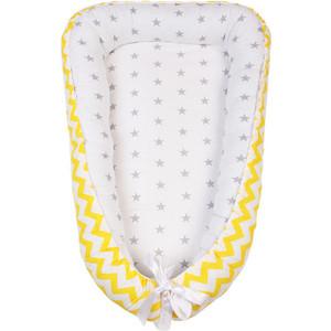 Позиционер для сна AmaroBaby кокон-гнездышко, LITTLE BABY желтый/серый позиционер для сна amarobaby кокон гнездышко prestige baby серый белый