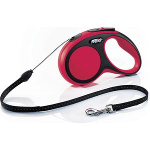 Рулетка Flexi New Comfort S трос 5м черная/красная для собак до 12кг цена и фото