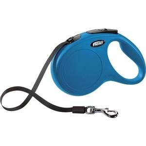 Рулетка Flexi New Classic M лента 5м синяя для собак до 25кг