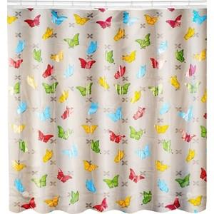 Штора для ванной Swensa 180х180 см, Бабочки, ПЕВА (SWC-50-03)