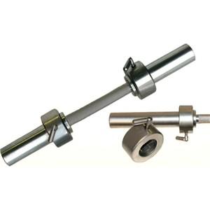 Гриф гантельный Barbell d 50 мм металлическая ручка/стопорный L530 мм гантельный ряд db182 27 5 50
