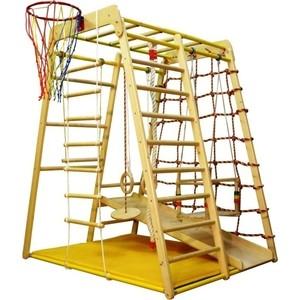 купить Детский спортивный комплекс Вертикаль Весёлый Малыш Wood горка фанерная онлайн