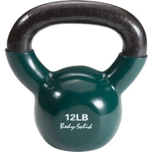 Гиря Body Solid 5,4 кг (12lb) обрезиненная темно-зеленая KBV(KVC)12