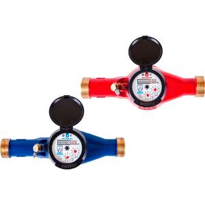 Счетчик горячей воды ЭКО НОМ общедомовой 25Г с комплектом монтажных частей ЛАТУНЬ