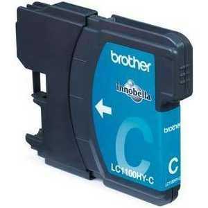 Brother LC1100HYC Cyan картридж для струйных аппаратов hp scitex fb250 light cyan ink ch220a