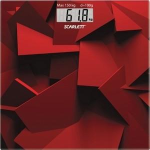 Весы напольные Scarlett SC-BS33E086 красн