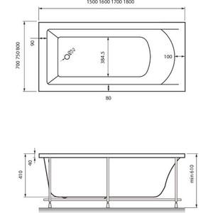 Акриловая ванна Vayer Savero 180x80 (Гл000009147)