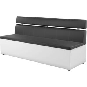 Кухонный диван АртМебель Классик эко-кожа черно/белый диван артмебель бремен эко кожа белый