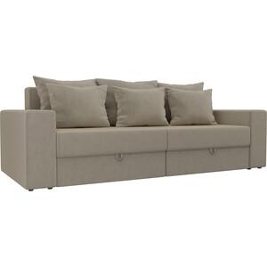 Диван-еврокнижка Мебелико Медисон микровельвет бежевый диван еврокнижка мебелико европа микровельвет зелено бежевый