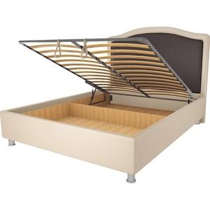 Кровать OrthoSleep Калифорния бисквит-шоколад механизм и ящик 90х200 кровать orthosleep калифорния бисквит механизм и ящик 90х200