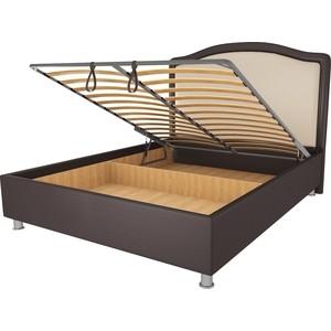 Кровать OrthoSleep Калифорния шоколад-бисквит механизм и ящик 80х200 кровать orthosleep калифорния шоколад бисквит механизм и ящик 80х200