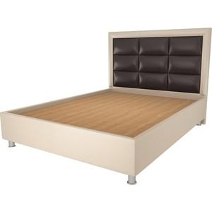 Кровать OrthoSleep Виктория бисквит-шоколад жесткое основание 120х200 кровать orthosleep ниагара бисквит жесткое основание 120х200