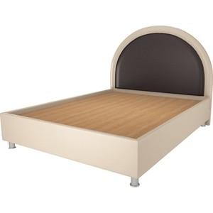 Кровать OrthoSleep Аляска бисквит-шоколад жесткое основание 200х200