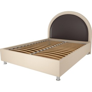 Кровать OrthoSleep Аляска бисквит-шоколад ортопед.основание 140х200