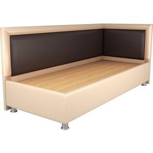 Кровать OrthoSleep Барби бисквит-шоколад жесткое основание 120х200 правый угол