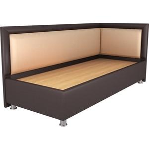 Кровать OrthoSleep Барби шоколад-бисквит жесткое основание 90х200 правый угол