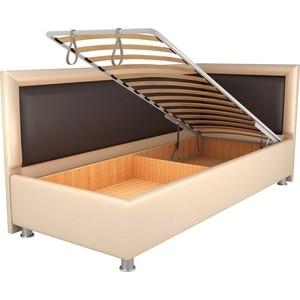 Кровать OrthoSleep Барби бисквит-шоколад механизм и ящик 90х200 правый угол