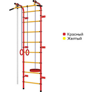 Детский спортивный комплекс Пионер С1НМ красно- жёлтый детский спортивный комплекс пионер м красно жёлтый