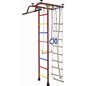 Детский спортивный комплекс Крепыш плюс (02454) Т ПВХ бордовый детский спортивный комплекс крепыш плюс 02453 т пвх синий