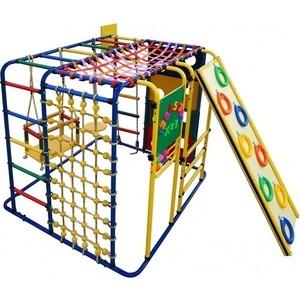 Детский спортивный комплекс Формула здоровья Кубик У Плюс синий- радуга цена
