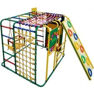 Детский спортивный комплекс Формула здоровья Кубик У Плюс зелёный- радуга детский спортивный комплекс формула здоровья стелла 1с плюс синий радуга