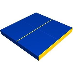 Мат КМС № 11 (100 х 100 10) складной (4 сложения) сине- жёлтый 2635