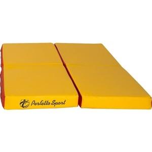 Мат PERFETTO SPORT № 11 (100 х 100 10) складной (4 сложения) красно- жёлтый