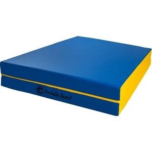 купить Мат PERFETTO SPORT № 10 (100 х 150 х 10) складной (1 сложение) сине- жёлтый по цене 2630 рублей