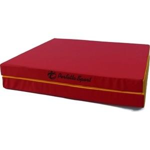 Мат PERFETTO SPORT № 10 (100 х 150 х 10) складной (1 сложение) красно- жёлтый мат гимнастический perfetto sport 3 100х100х10 складной красно жёлтый