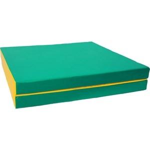 Мат КМС № 10 (100 х 150 10) складной (1 сложение) зелёно- жёлтый 2625