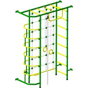 Детский спортивный комплекс Пионер 9М зелёно- жёлтый детский спортивный комплекс пионер с2нм зелёно жёлтый