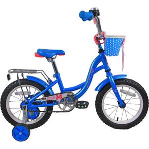 Велосипед Bravo 14 Girl голубой- розовый- белый