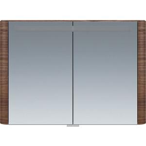 Зеркальный шкаф Am.Pm Sensation 100 с подсветкой, орех (M30MCX1001NF) зеркальный шкаф с подсветкой am pm sensation m30mcr0801ng