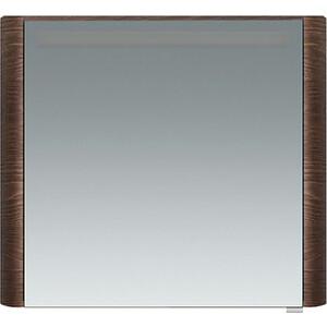 Зеркальный шкаф Am.Pm Sensation 80 левый, с подсветкой, табачный дуб (M30MCL0801TF) фото
