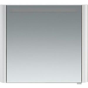 Зеркальный шкаф Am.Pm Sensation 80 левый, с подсветкой, белый глянец (M30MCL0801WG) зеркальный шкаф edelform belle 80 с подсветкой белый глянец
