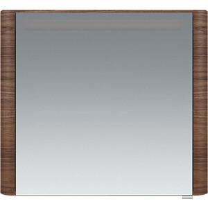 Зеркальный шкаф Am.Pm Sensation 80 левый, с подсветкой, орех (M30MCL0801NF) фото
