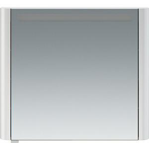 Зеркальный шкаф Am.Pm Sensation 80 правый, с подсветкой, белый глянец (M30MCR0801WG) зеркальный шкаф am pm sensation 80 правый с подсветкой белый глянец m30mcr0801wg