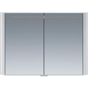 Зеркальный шкаф Am.Pm Sensation 100 с подсветкой, белый глянец (M30MCX1001WG) зеркальный шкаф с подсветкой am pm sensation m30mcr0801ng
