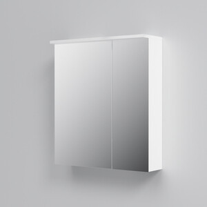 Зеркальный шкаф Am.Pm Spirit 60 с подсветкой, белый глянец (M70MCX0601WG) зеркальный шкаф am pm spirit v2 0 60 с подсветкой l синий