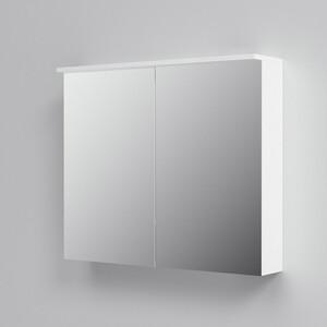 Зеркальный шкаф Am.Pm Spirit 80 с подсветкой, белый глянец (M70MCX0801WG) зеркальный шкаф edelform belle 80 с подсветкой белый глянец