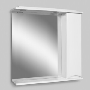 Зеркало-шкаф Am.Pm Like 80 правый, с подсветкой, белый глянец (M80MPR0801WG/M80MPR0801WG32)