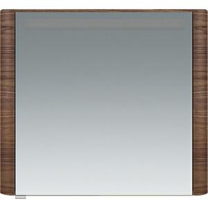 Зеркальный шкаф Am.Pm Sensation 80 правый, с подсветкой, орех (M30MCR0801NF) зеркальный шкаф vigo mirella 80 с подсветкой белый