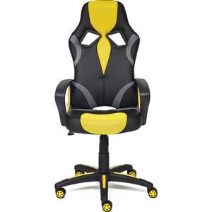Кресло TetChair RUNNER кож/зам/ткань, черный/жёлтый, 36-6/tw27/tw-12 кресло tetchair runner кож зам ткань белый синий красный 36 01 10 08
