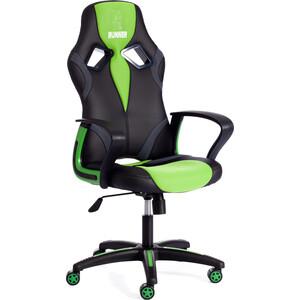 Кресло TetChair RUNNER кож/зам/ткань черный/зеленый 36-6/26/12 кресло tetchair baggi кож зам ткань черный бежевый 36 6 12