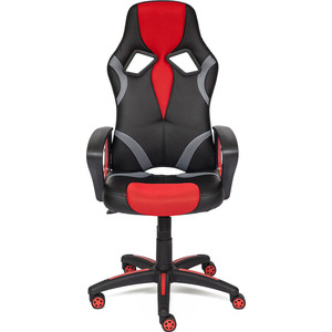Кресло TetChair RUNNER кож/зам/ткань, черный/красный, 36-6/tw08/tw-12