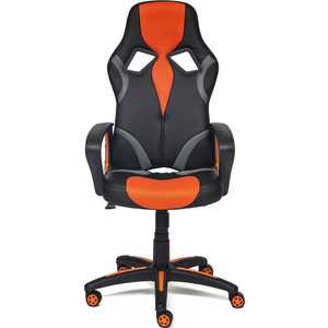 Кресло TetChair RUNNER кож/зам/ткань, черный/оранжевый, 36-6/tw07/tw-12