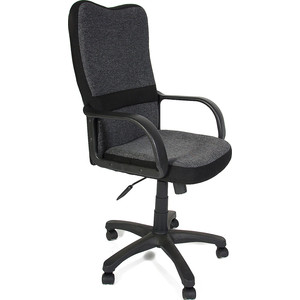 цена на Кресло TetChair СН757 ткань, серый/чёрный, 207/2603